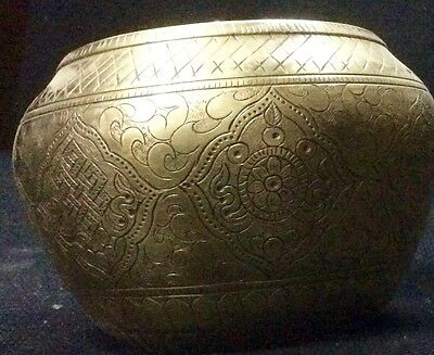 Beautiful Unsual Budha Singing Bowl. Unique Sound  Hand Made Nepal
