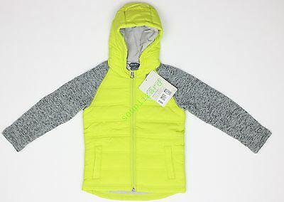 New Eddie Bauer Kids Toddler Boys Girls Hooded Yellow Jacket NWT Size sz 3T 4T