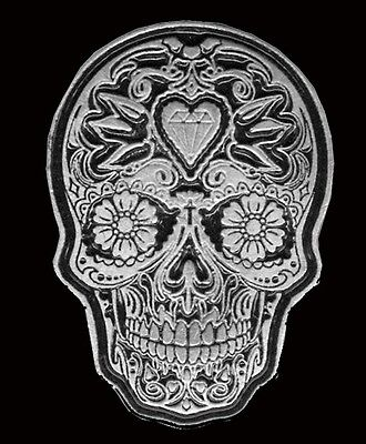 A BROTHER SKULL PEWTER SON OF OUT LAW NOMAD BIKER  PIN