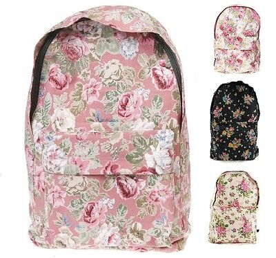 New Sass and Belle Pretty Vintage Authentic Floral Backpack Rucksack School Bag