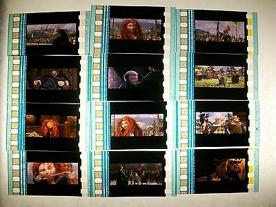 BRAVE film cell lot of 12 collection compliments movie dvd poster disney