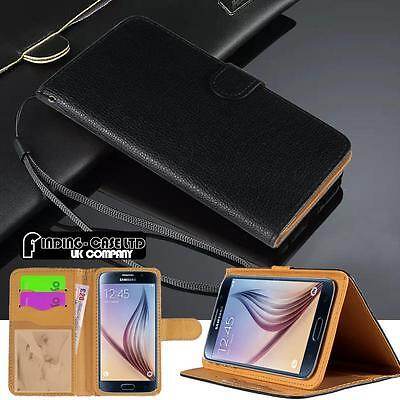 New Black Flip Cover Stand Wallet Leather Case for Various Samsung Galaxy Phones