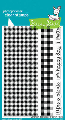 Lawn Fawn - Gingham Backdrops Stamp Set
