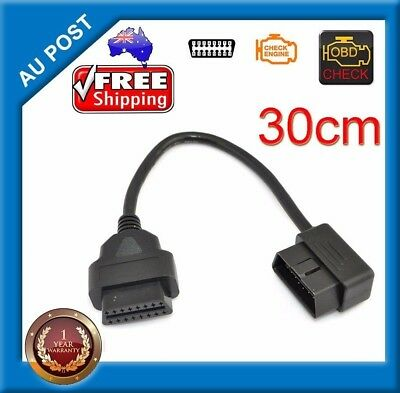 1ft 30cm OBD2 16 Pin Male to Female Extension Cable Car Diagnostic Cord Adapter
