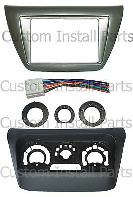 2002-07 Mitsubishi Lancer Double 2 Din Complete Dash Kit w/ A/C Relocation