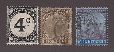 Trinidad Used Set Vf 3 Stamps