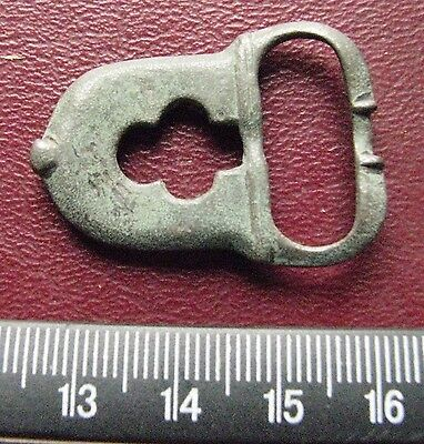 Authentic Ancient Artifact > 8th Century Byzantine Bronze belt buckle 13404