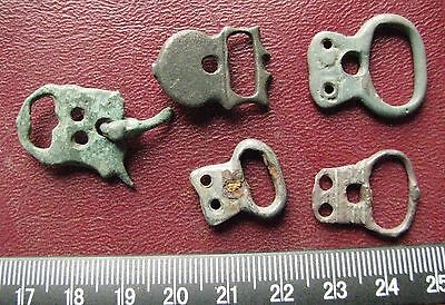 Authentic Ancient Artifact > Lot of 5 - Medieval Bronze belt buckles   13367