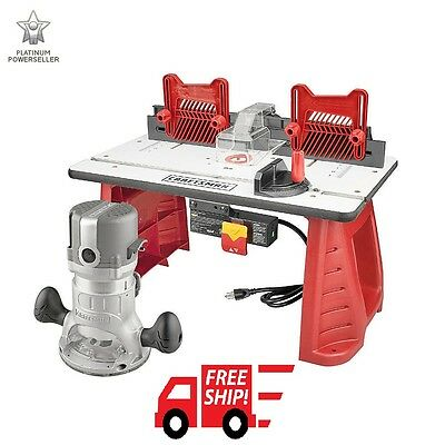 Craftsman Router Table Router Combo Portable Power Shaper Miter Gauge Woodwork