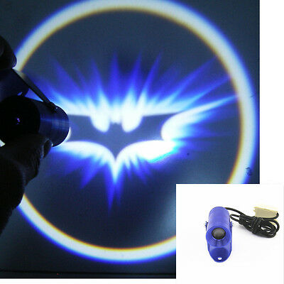 Motorcycle Bat Logo Ghost Shadow LED Laser Blue Shell Projector Light For Harley