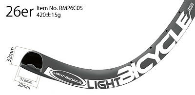 all mountain enduro mtb 26er carbon rims 38mm wide hookless tubeless compatible