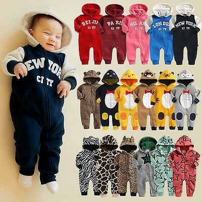 "Vaenait Baby Kids Boy Girls Romper Fleece Jumpsuit Outwear ""Baby Fleece"" 6-18M"