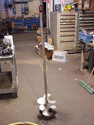 """316 Stainless Steel 6 Blade 11"""" Dia Propeller Mixing Shaft 59"""" High 1-1/4"""" Dia"""