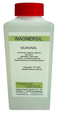 Silicone Oil Clean Colourless Wagnersil S200 Plasticiser Low Viscosity 500 Ml