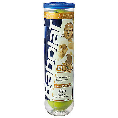 034003 SPORTS DEAL Babolat Gold Tennis Balls - Tube Of 4