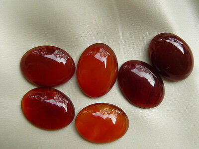 Carnelian Cabochons Translucent Rusty Ovals Natural Gemstones 8-total 63.5cts