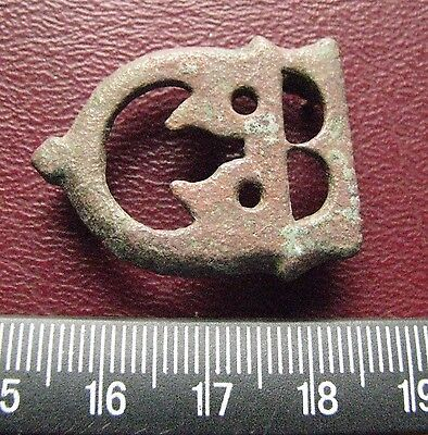 Authentic Ancient Artifact > 8th Century Byzantine Bronze belt buckle 13394