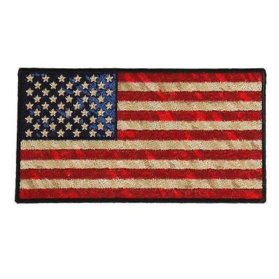 US FLAG Distressed American Flag EMBROIDERED 5 INCH IRON ON PATCH BY MILTACUSA