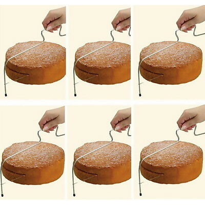 Adjustable Wire Cake Slicer Cutter Leveller Decorating Bread Wire Decor Tool FD