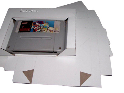 5 x SNES Super Nintendo Game Tray Inserts White Replacement Reproduction Insert