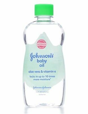 JOHNSON'S Aloe Vera - Vitamin E Baby Oil 14 oz