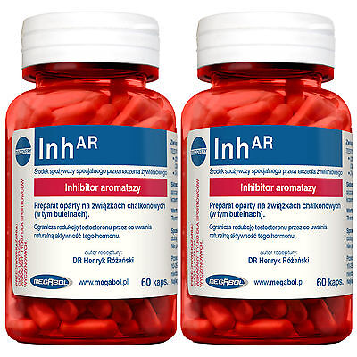 InhAR 60-420 Caps Testosterone Booster Anabolic Growth Pro Muscle Mass Build PCT