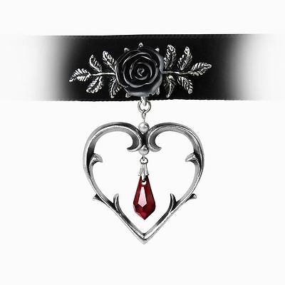 Alchemy Gothic Wounded Love Pewter Choker BRAND NEW
