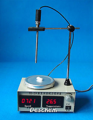 Magnetic Stirrer Heating Plate,Hotplate Mixer,Speed & Temp Display,MAX 300Degree