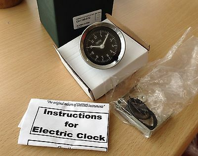 smiths 52mm  black faced car clock mini , etc Bay1-A1