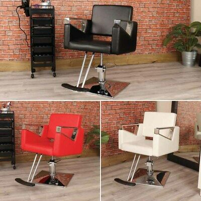 New Black Leather Style Swivel Chair Hairdressing Stylist Barber Salon Furniture
