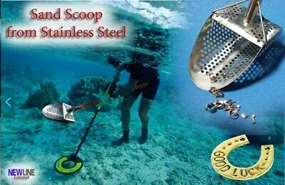 "Sand Scoop "" Standart -9m "" Metal Detector Tool from Genuine Stainless Steel 2mm"