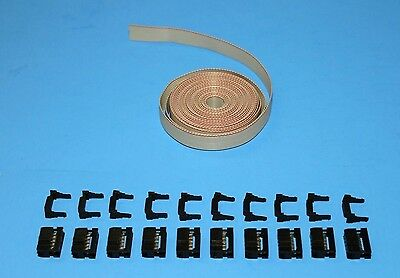 IDC Cable Ribbon Cable 12 Ft 10-Pin (2x5) Connector Kit, Fast ship from USA