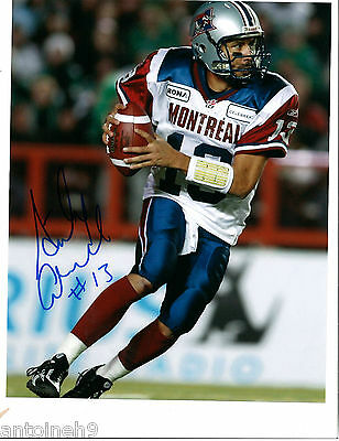 ANTHONY CALVILLO signed/autographed 8x10 photo MONTREAL ALOUETTES exact PROOF