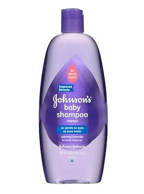 JOHNSON'S Baby Shampoo With Natural Lavender 20 oz (Pack of 2)