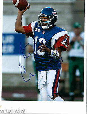 ANTHONY CALVILLO signed 8x10 photo MONTREAL ALOUETTES RETRO exact PROOF