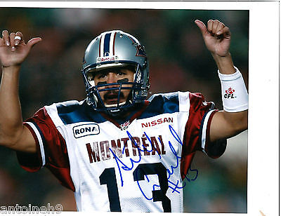 ANTHONY CALVILLO signed/autographed 8x10 photo MONTREAL ALOUETTES TD exact PROOF