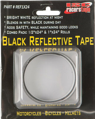 ISC Racers Tape Black Reflective Tape REF1X24 10-2321 10-0686