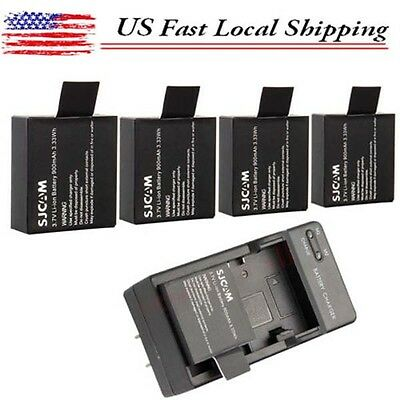 3.7V 900mAh Li-ion Battery / Dual Charger For SJ4000 SJ5000 Action Sport Camera