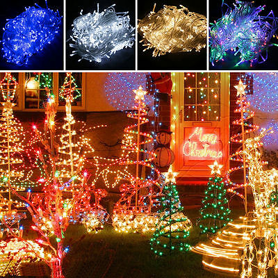 200/300/500/1000 LEDs String Fairy Light Christmas Party Wedding Indoor/Outdoor