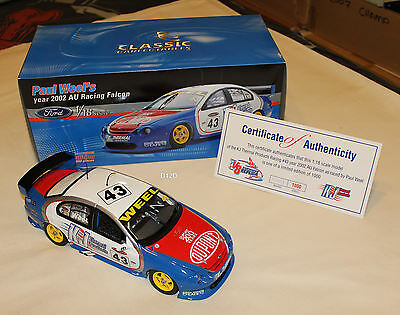 Paul Weel 2002 PWR K&J Thermal Products Ford AU Falcon V8 Supercar 1:18 New