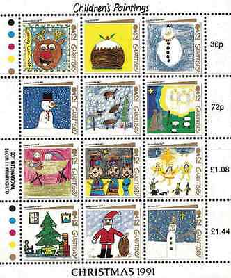 Timbres Noel Guernesey 544/55 ** (8309)