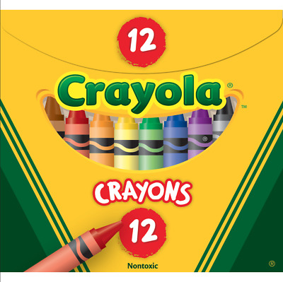 Crayola Kids Crayons 12 Colours Non Toxic True Colour - Made in USA