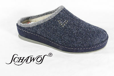 Schawos Ladies Slippers House Shoes Mules Blue 2030-6 New