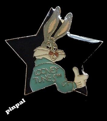 Bugs Bunny Pin ~ Looney Tunes ~ Thumbs Up ~ Black Star cut out