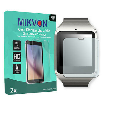 2x Mikvon Clear Screen Protector for Sony SmartWatch 3 Retail Package