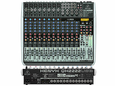 Behringer Qx2222Usb Mixer 22 Ingressi Con Usb - Effetti X Voce E Wireless