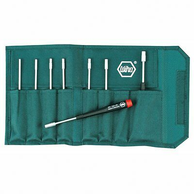 Wiha 26598 Nut Driver Set, Metric In Canvas Pouch, 8 Piece