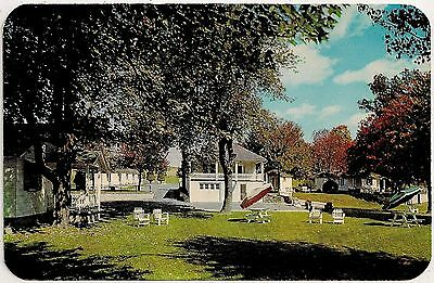 White Cabin Motel in Sciota PA Roadside Postcard