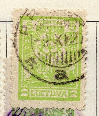 Lithuania 1923 Early Issue Fine Used 5c.