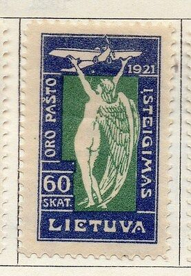 Lithuania 1921 Early Issue Fine Mint Hinged 60s.